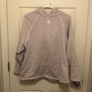 Purple Adidas hoodie worn once